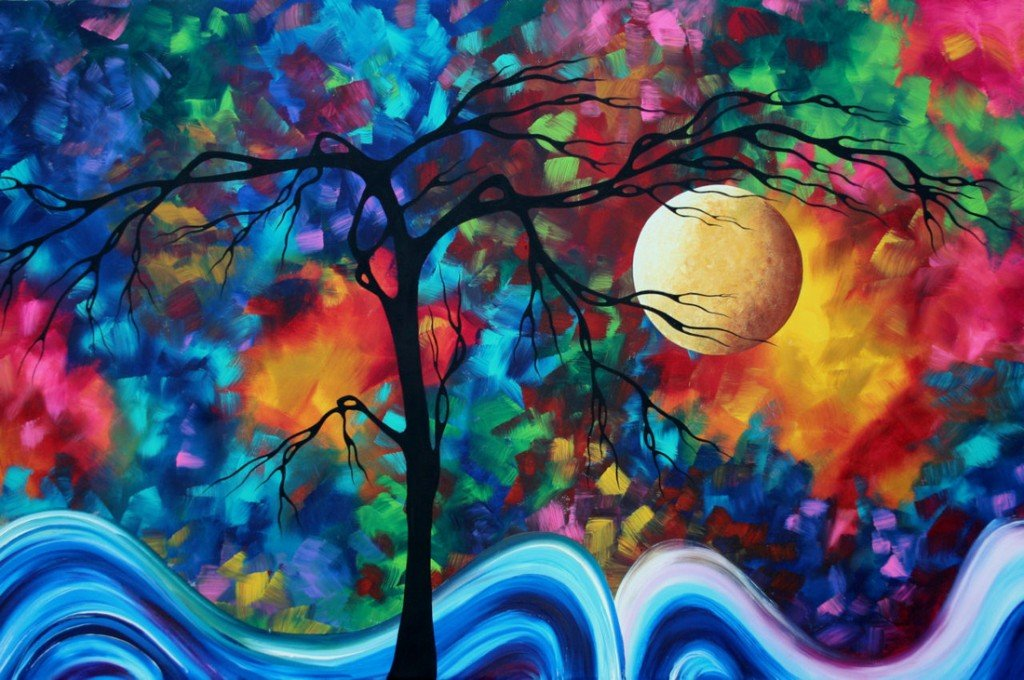 Full Moon color tree