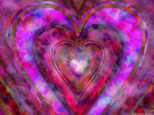 Pink Purple Hearts