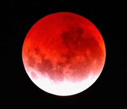 Blood Moon closeup